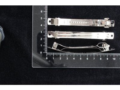 Francouzská spona 10x0,9 cm, platina platina kov 10 m 9 mm