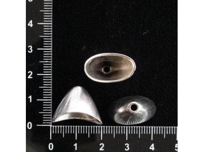 Pevný ovál 11 x 19,5 x 14,5 mm platina kov 2,3 mm 19,5 mm 8,5 x 17 mm 11 x 19,5 mm