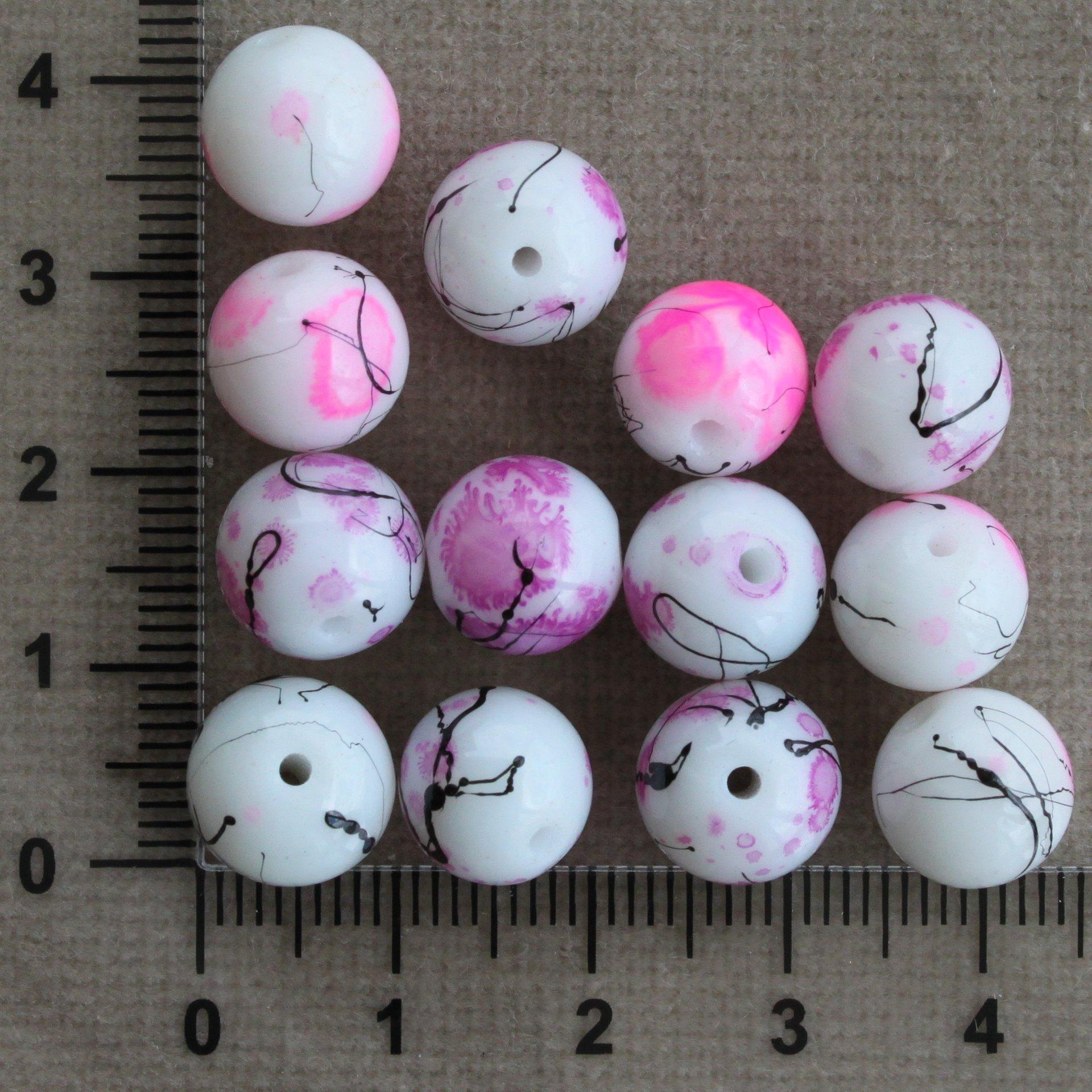 Růžovo/fialovo-černé keramické 10,12 mm 10 mm 1,1 mm