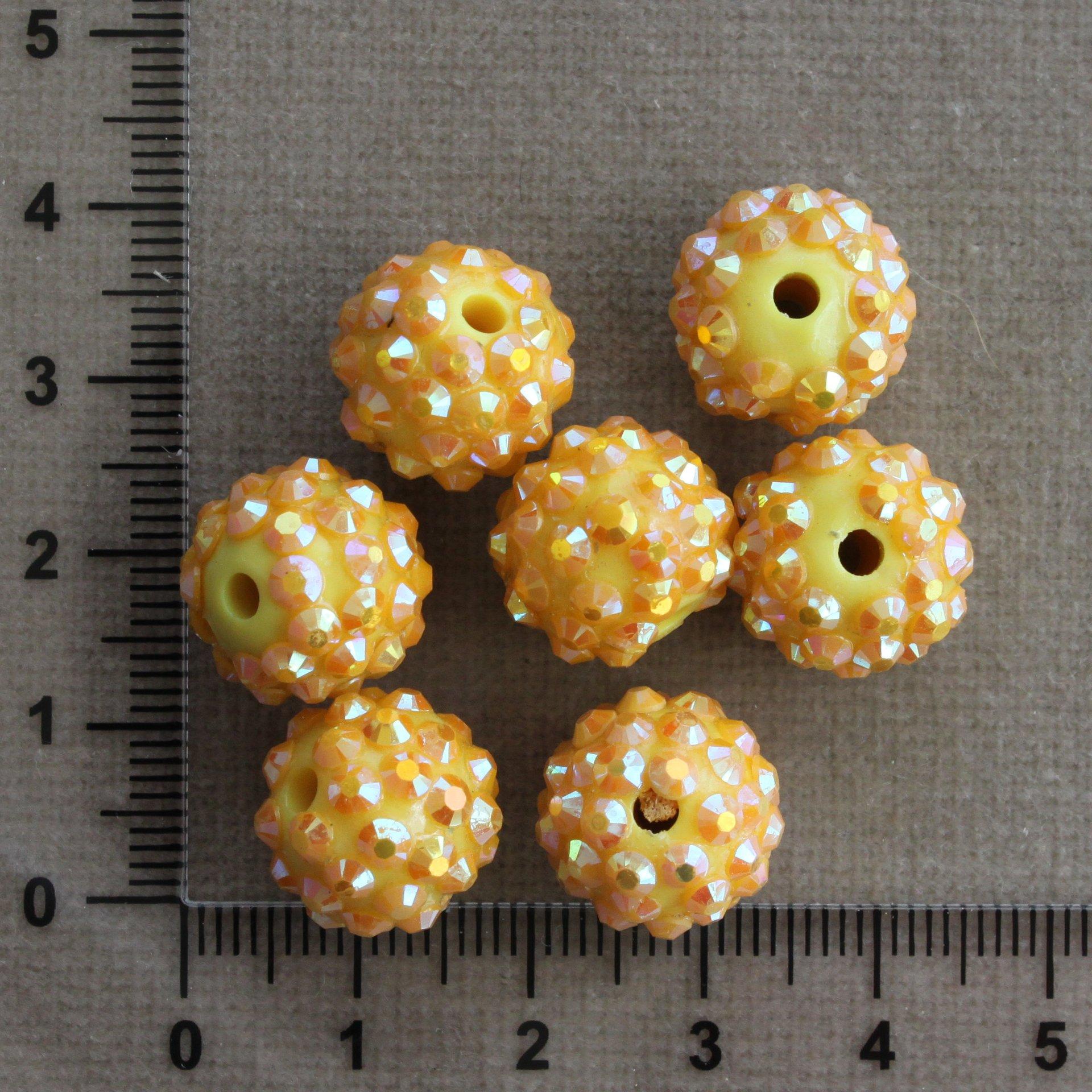 Žluto-oranžová 13 mm žlutá/oranžová kulička plast 13 mm 2,4 mm