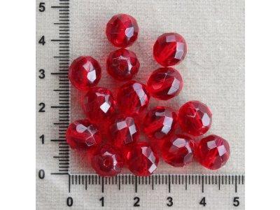 Rubínově červená 10 mm červená kulička sklo 10 mm 1 mm