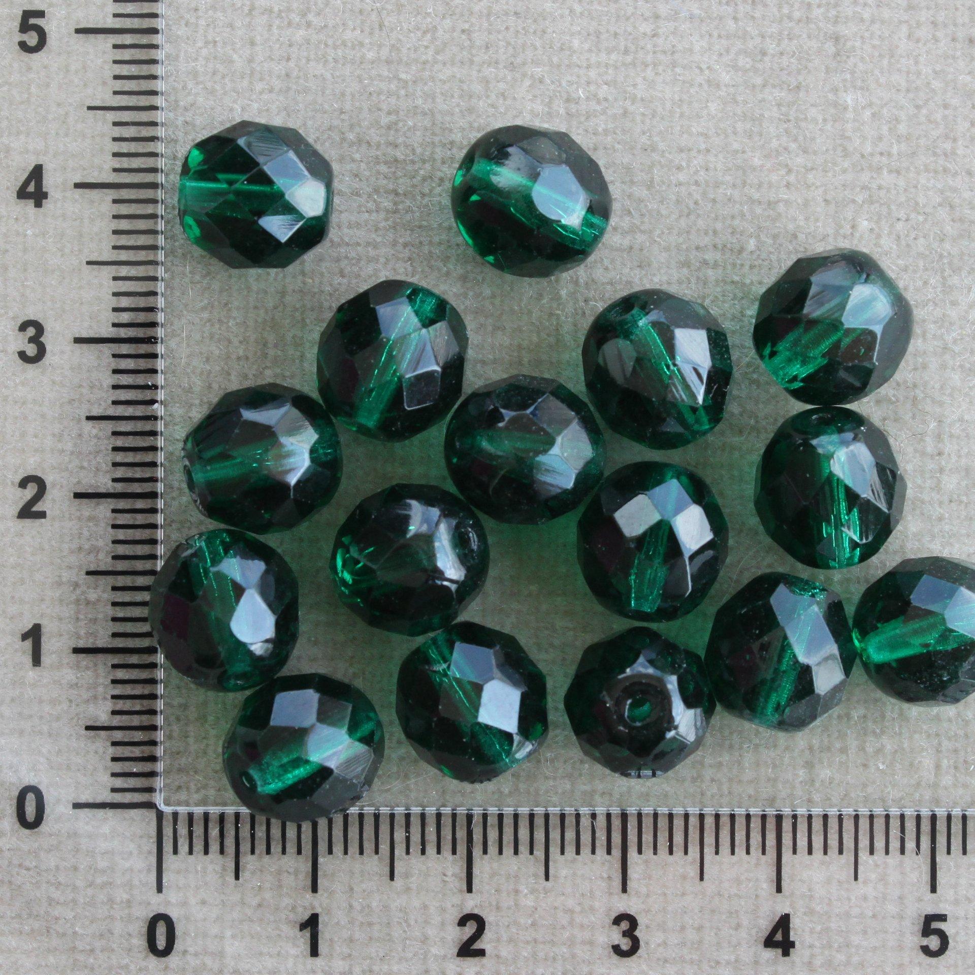 Tmavě zelená 10 mm zelená kulička sklo 10 mm 1 mm