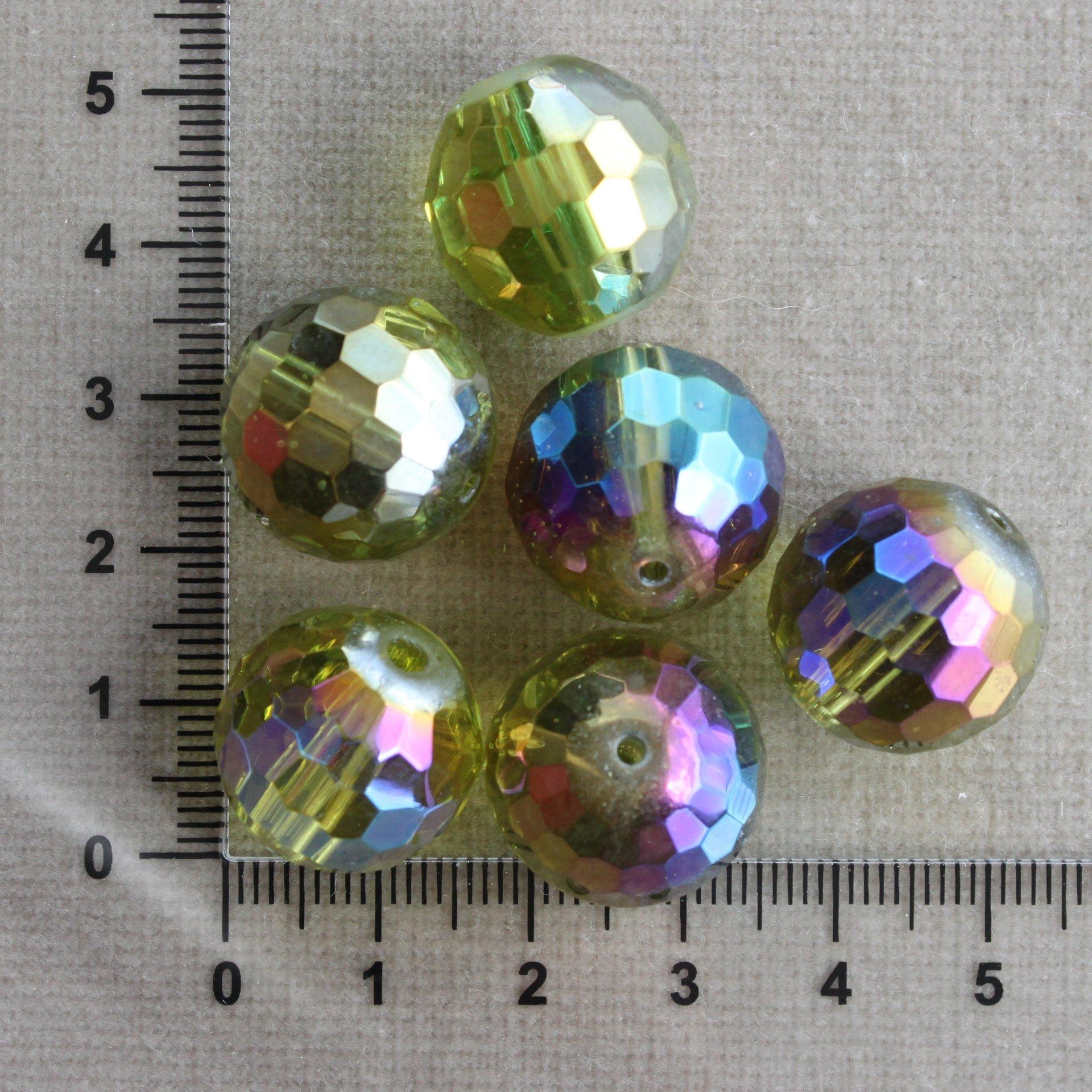 Zelené s AB zelená sklo 18 mm 1,5 mm