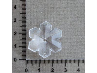 Vločky 29 x 25 mm průhledná vločka plast 25 x 29 mm 2 mm