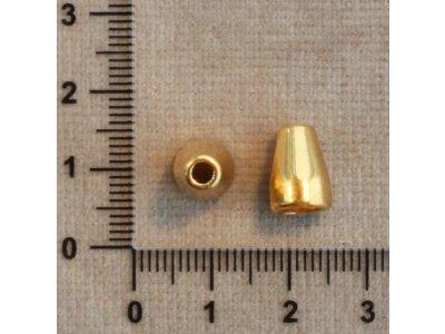 Kaplíky zlaté kov 5,5 mm 8 x 11 mm 2,7 mm zlatá
