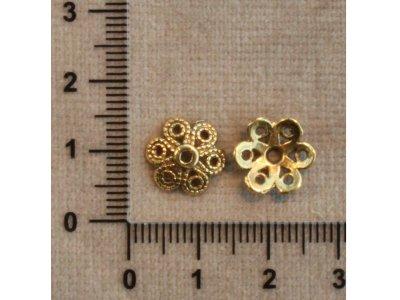 Zlaté kaplíky 2 zlatá kov 11 mm 1,5 mm