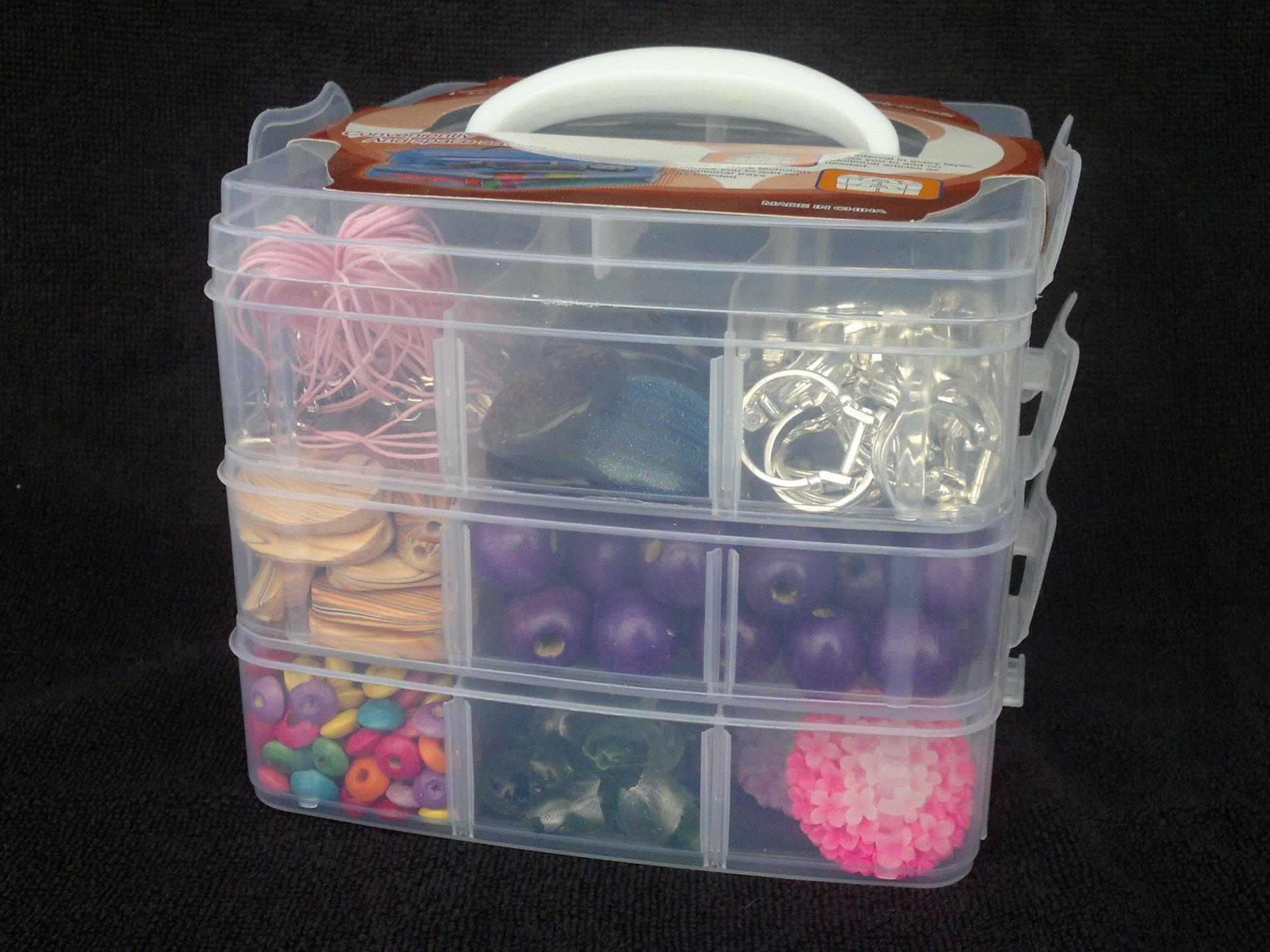 Kufr plastový (box), 3 patra