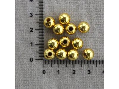 Kuličky zlaté, velikosti 5 a 8 mm