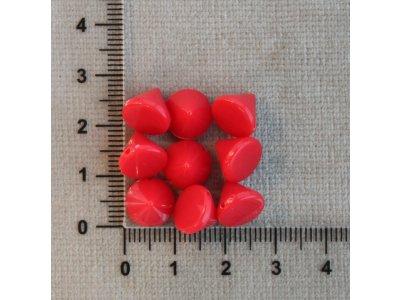 Spikes červený 10/8 černá hrot - spikes plast 1,1 mm