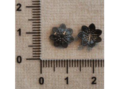 Kaplíky cca 10 mm černá