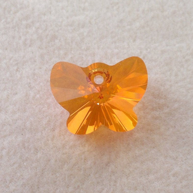 Přívěsek motýl Swarovski 18 mm, crystal astral pink