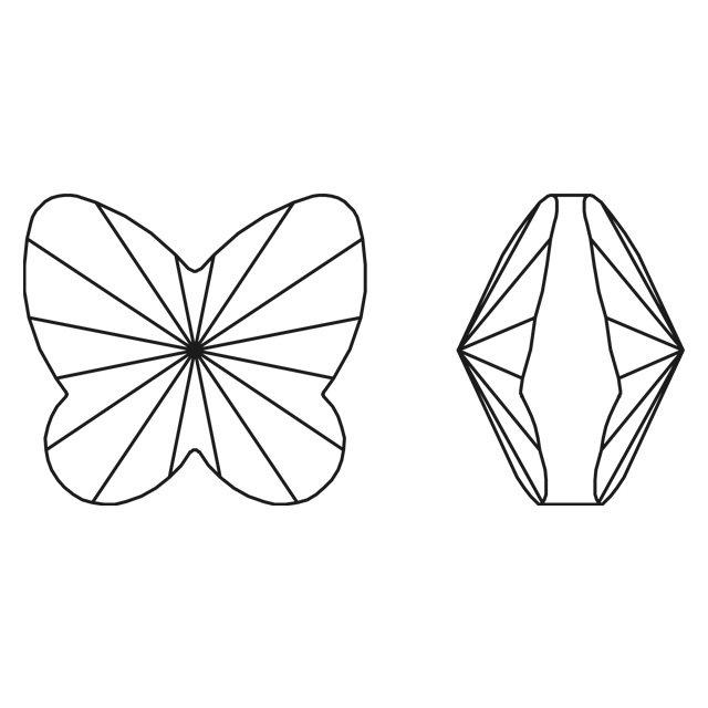Přívěsek motýl Swarovski 18 mm, light rose