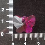 Přívěsek motýl Swarovski 18 mm, fuchsie