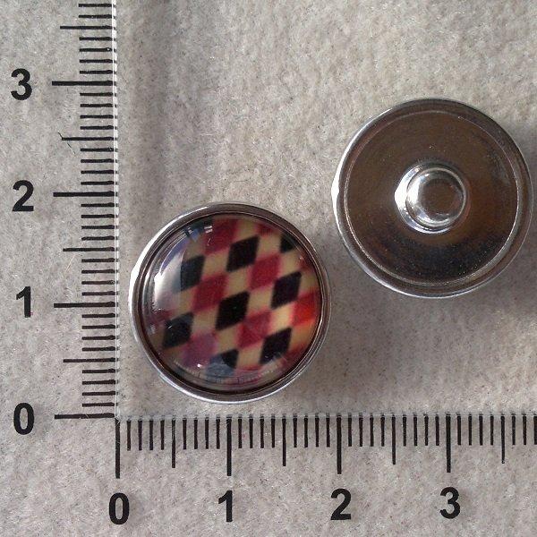 Kabocvok pr. 18 mm,kosočtverce - motiv 7