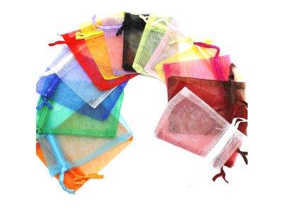 Pytlíčky organzové 7x9 cm, mix barev