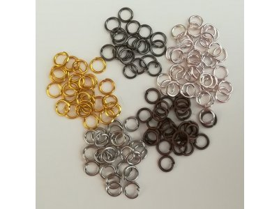 Spojovací kroužky 5 mm silné 0,7 mm, více barev