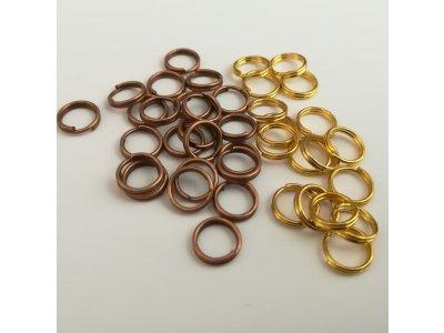 Spojovací kroužky dvojité  6 mm silné 0,6 mm, více barev