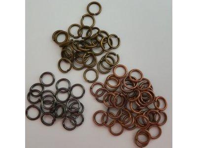 Spojovací kroužky 6 mm silné 1,2mm, více barev