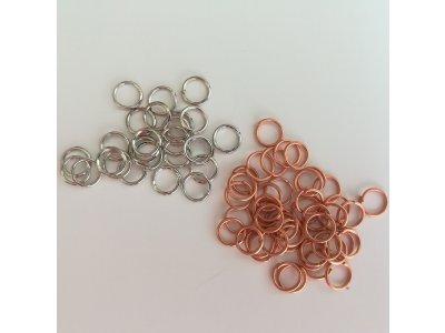 Spojovací kroužky 6 mm silné 1 mm, více barev