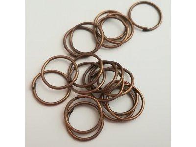 Spojovací kroužky 10 mm, silné 0,7 mm měděná
