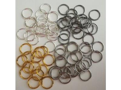 Spojovací kroužky 10 mm silné 1 mm, více barev
