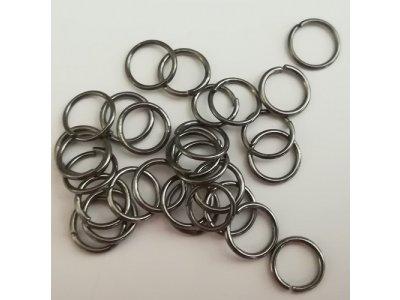 Spojovací kroužky 8 mm, silné 0,8 mm - antracitová