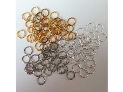 Spojovací kroužky 6 mm silné 0,7 mm, více barev