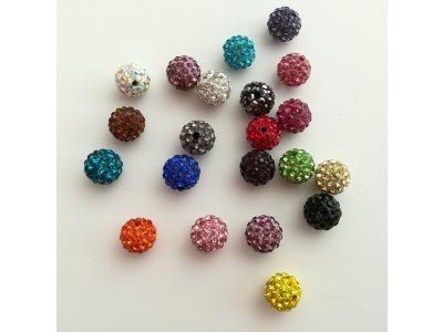 Shamballa 10 mm, více barev
