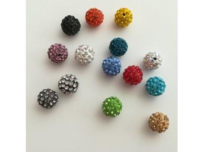 Shamballa 12 mm, více barev