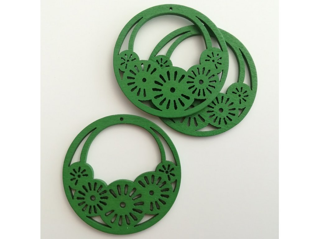 Výsek s kolečky pr. 50 mm - zelená