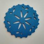 Výsek zdobný pr. 60 mm - modrá