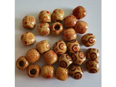 Kuličky dřevěné pr. 12 mm, více druhů