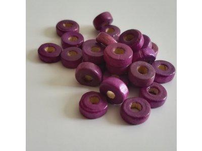Kolečka dřevěné 8 mm - fialové