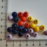 Kuličky dřevěné 10 mm, více barev