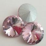Rivoli 18 mm, broušené sklo, více barev