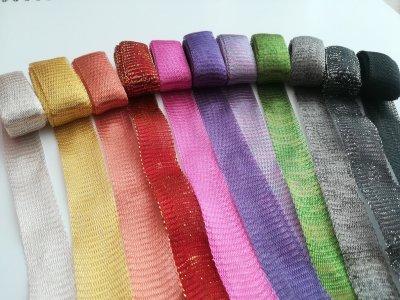 Drátěné stužky 18 - 20 mm, více barev