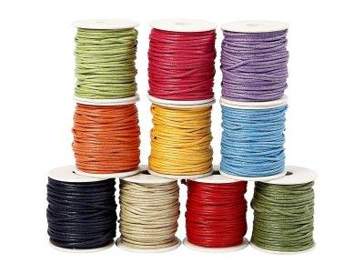 Voskovaná šňůra (polyester) 2 mm, více barev