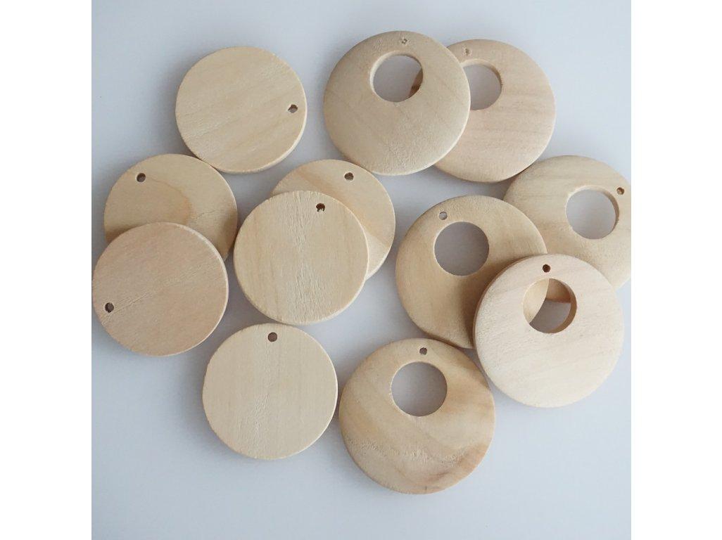 Výsek dřevěný, surový, více druhů