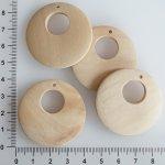 Výsek dřevěný, surový, více druhů - 40 mm