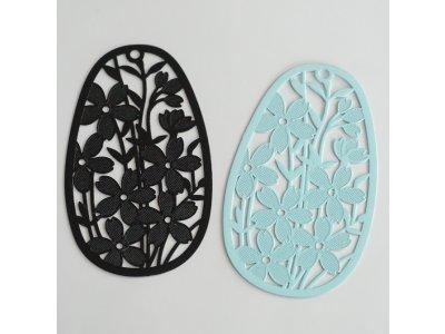 Filigrán vajíčko s květy, více barev