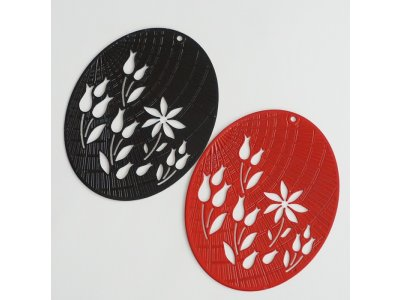 Filigrán ovál s tulipány, více barev