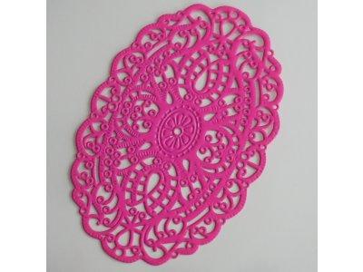 Filigrán ovál, růžový