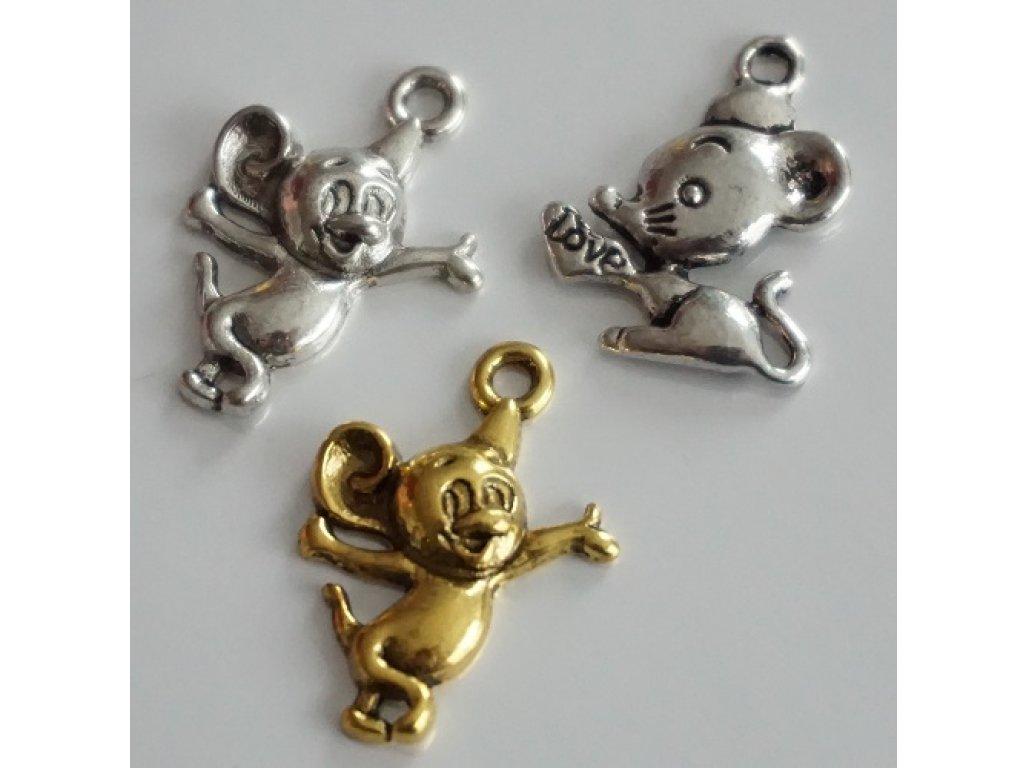 Kovové myšičky, různé