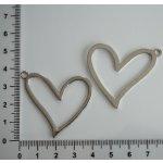 Kovové srdce větší. různé - hladká, platinová