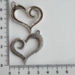 Kovové srdce větší. různé - antická