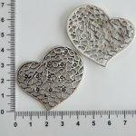 Kovové srdce větší. různé - s kytičkami