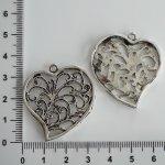 Kovové srdce větší. různé - zdobná