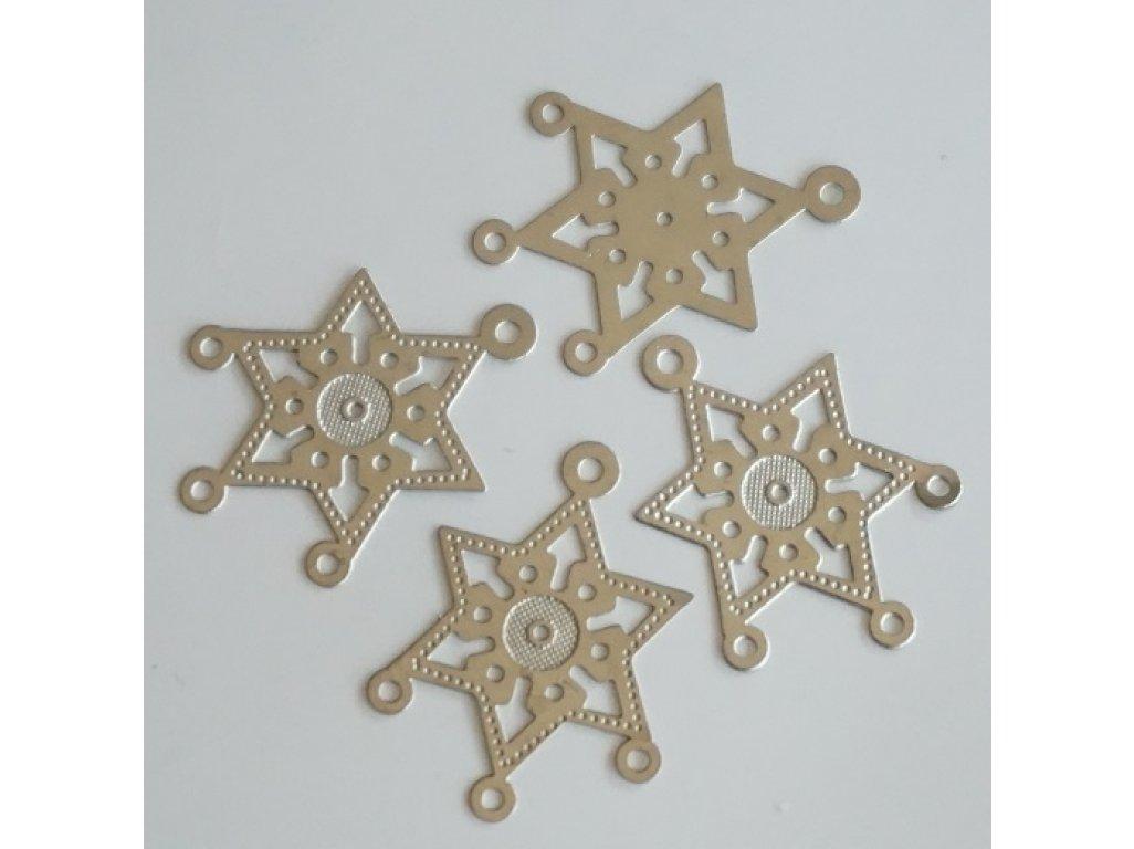 Filigránové ramínko hvězda