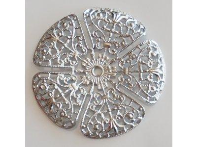 Filigrán kytička, pr.35 mm, platina