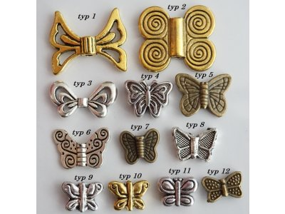 Kovový motýl, více druhů
